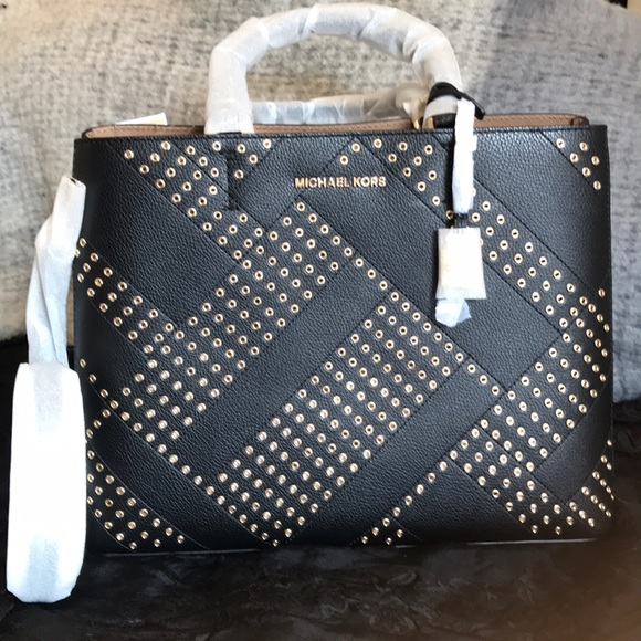 Michael Kors ADELE leather tote e gold studs.NEW 3ac8359275